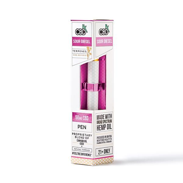 CBD +FX Terpens Disposable Pen Sour Diesel 50mg–Vape
