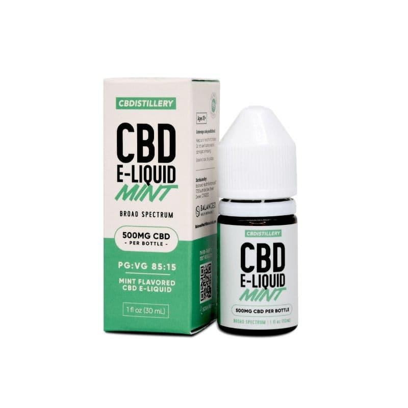 Обычная крепкая электронная жидкость CBD широкого спектра действия - 500 мг - Mint 0% THC * - Vape
