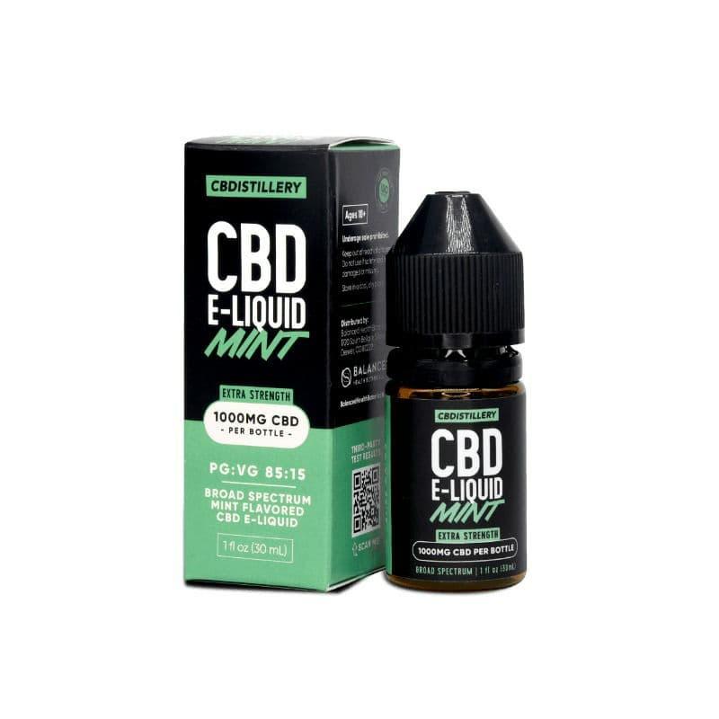Сверхсильная электронная жидкость CBD широкого спектра действия - 1000 мг - Mint 0% THC * - Vape